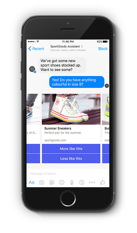 Chatbots for retail business